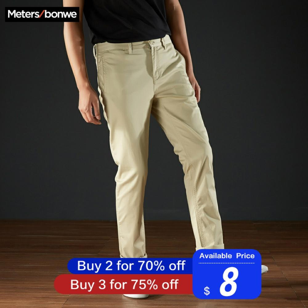 Metersbonwe Spring New Men Casual Pants Autumn Casual Trousers Straight Fashion Jogging Pants Male Brand Trousers High Quality