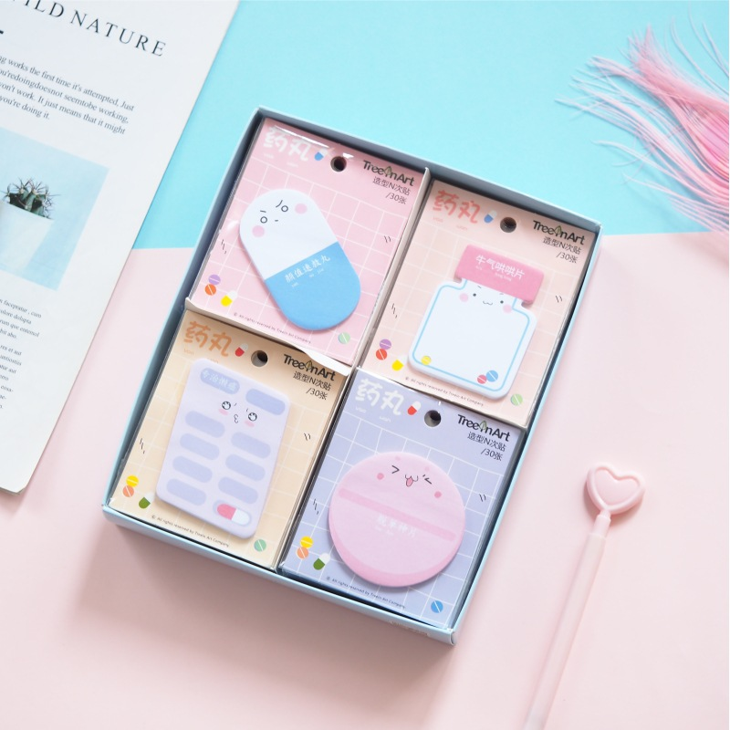 Magic Pill Moulding Memo Pad Sticky Notes Memo Notebook Stationery Papelaria Escolar School Supplies