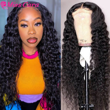 Deep Wave Closure Wig Human Hair Lace Closure Wigs 180 HD T Part Wig Pre Plucked Bleached Knots Wigs Remy 4x4 Lace Wig