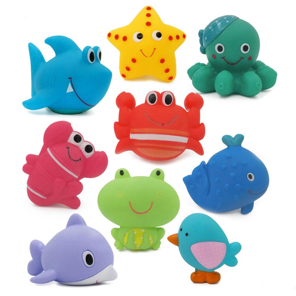 Baby Bath Cartoon Crab Sprinkler Colorful Animal Model Squirting Water Squeeze Toy Gift Develop Hand-eye Coordination Ability