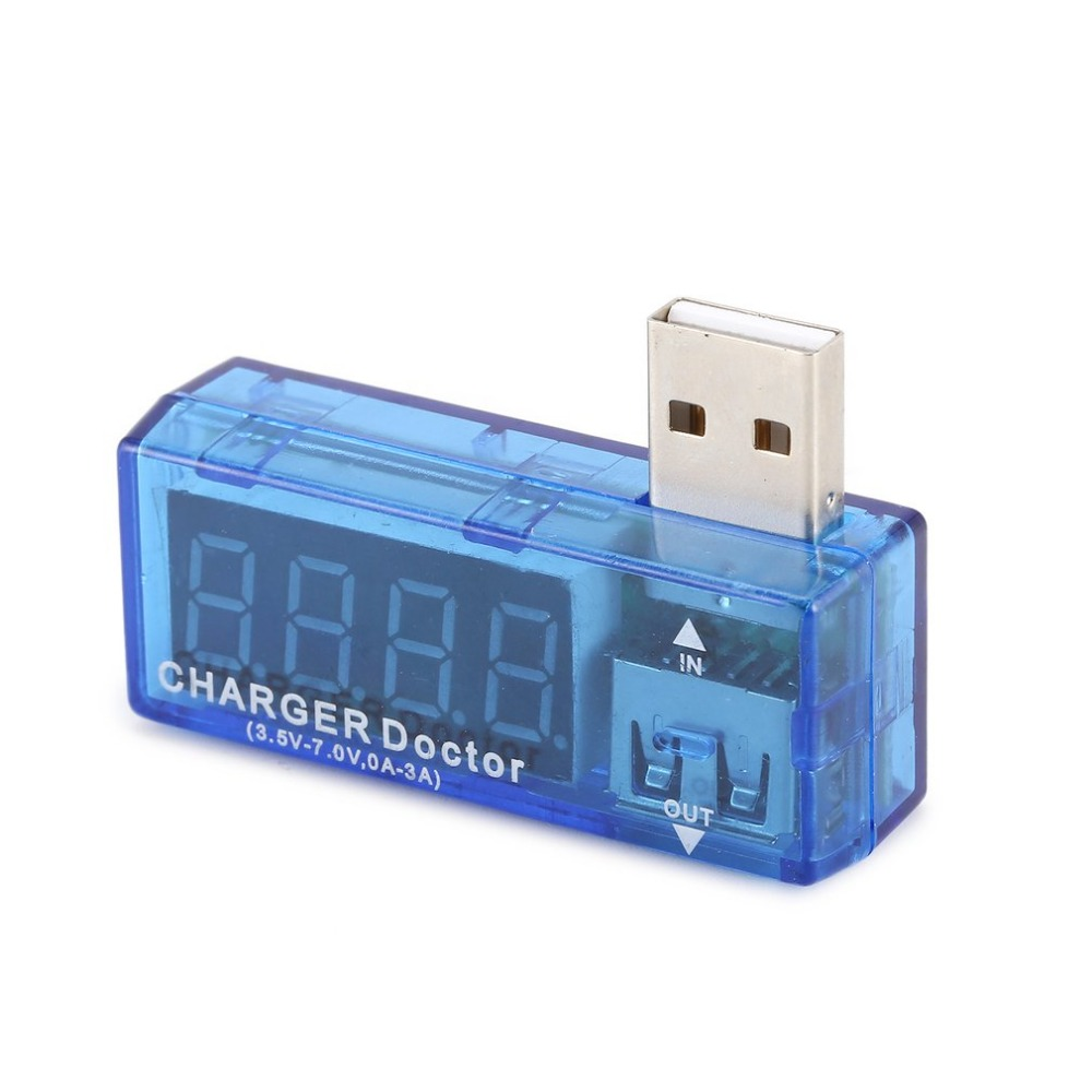 Usb Tester Digital USB Amp Voltmeter Current Voltage Tester Detector Mobile Power Battery Meter With LCD Screen