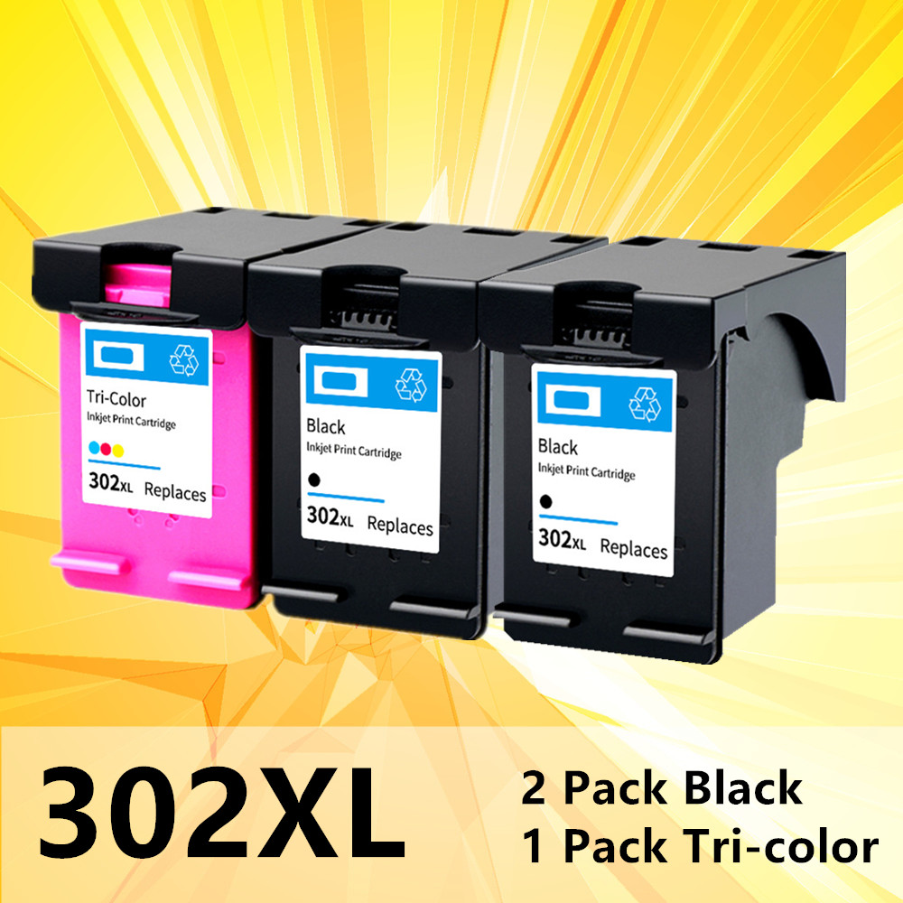 Compatible 302XL Ink Cartridge For HP 302 XL For Hp302 For HP Deskjet 2130 2135 1110 3630 3632 Officejet 3830 3834 4650 Printer