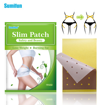 10pcs Slim Patch Burning Fat Patches Slimming Sticker Keep Fit Weight Lose Product Chinese Herbal Medical Plaster K04201
