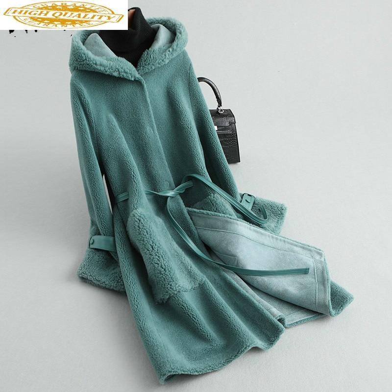 Real Fur Coat Women Sheep Shearing Winter Coat Women Korean Long Wool Jacket Women Clothes 2020 KQN59455 YY1587