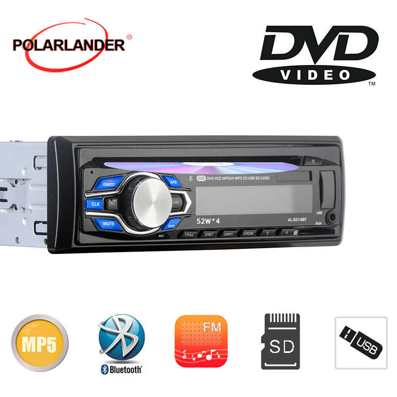 Mobil Baru Radio DVD VCD CD MP3 Bluetooth Auto Mobil Audio Stereo Bluetooth Player Ponsel AUX-IN FM USB 1 Din 5V Charger Di Dash 12V