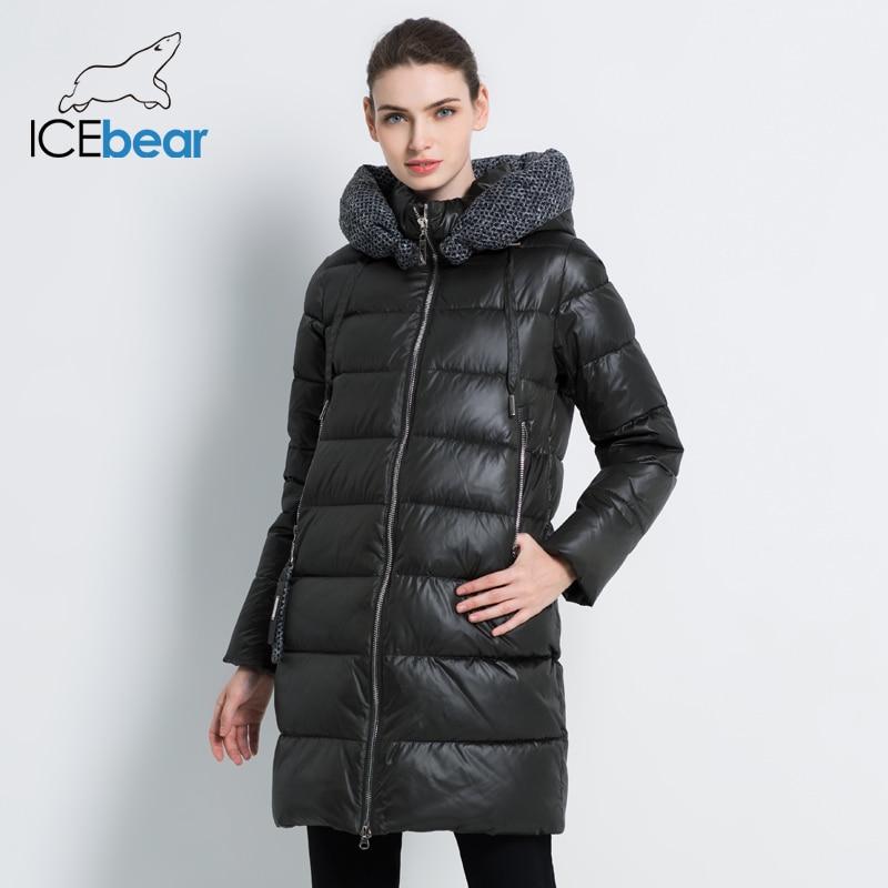 2019 جديد المرأة الشتاء سترة مقنعين الإناث الملابس دافئ المرأة معطف يندبروف السيدات ستر العلامة التجارية الملابس GWD19600I-في سترات فرائية مقلنسة من ملابس نسائية على  مجموعة 3