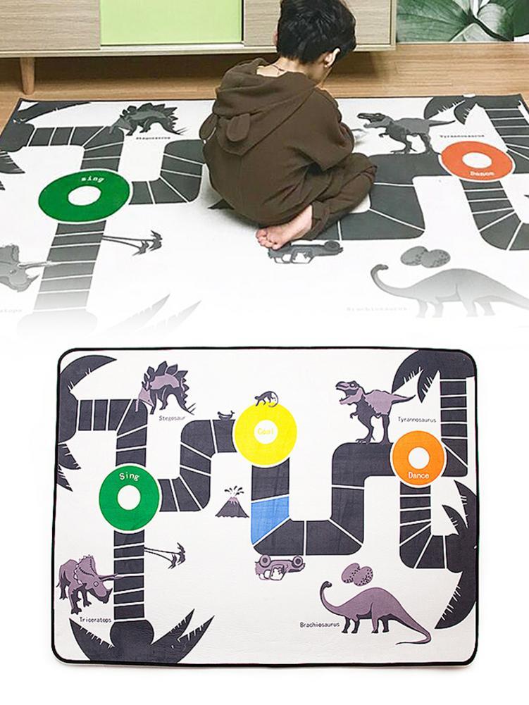 Tapis de jeu bébé tapis rampant épais Surface tapis bébé tapis Animal voiture dinosaure tapis de développement pour enfants tapis de jeu