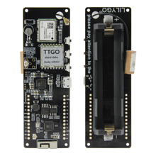 LILYGO®TTGO T Beam V1.1 ESP32 LORA 433/868/915/923MHZ WiFi سماعة لاسلكية تعمل بالبلوتوث وحدة تحديد المواقع NEO M8N IPEX 18650 حامل بطارية