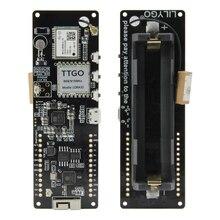 Lilygo®Ttgo t feixe v1.1 esp32 longos 433/868/915/923mhz módulo sem fio bluetooth gps NEO M8N ipex 18650 suporte da bateria