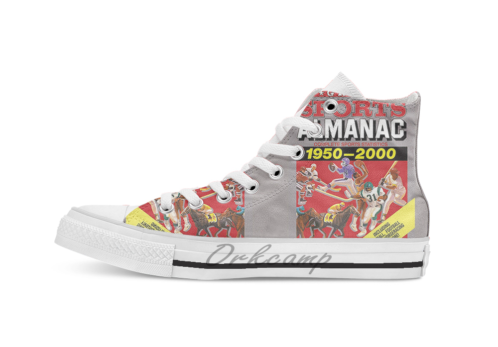 Grays Sports Almanac Complete Sports Statistics 1950 breathable Casual High Top lace up Canvas shoes sneakers Drop shipping