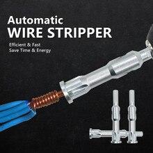 Eletricista geral automático fio stripper torção fio ferramenta rápida linha de descascador automático cabo peeling conector
