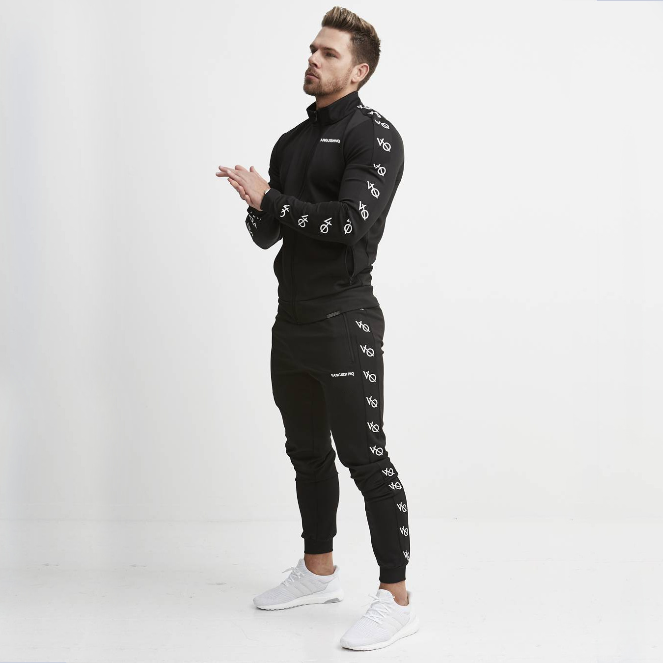 Autumn And Winter Men's Suit New Casual Sportswear Fitness Jogger 2-piece Hip Hop Brand Men's Suit Vanquish Mens Fashion 2019