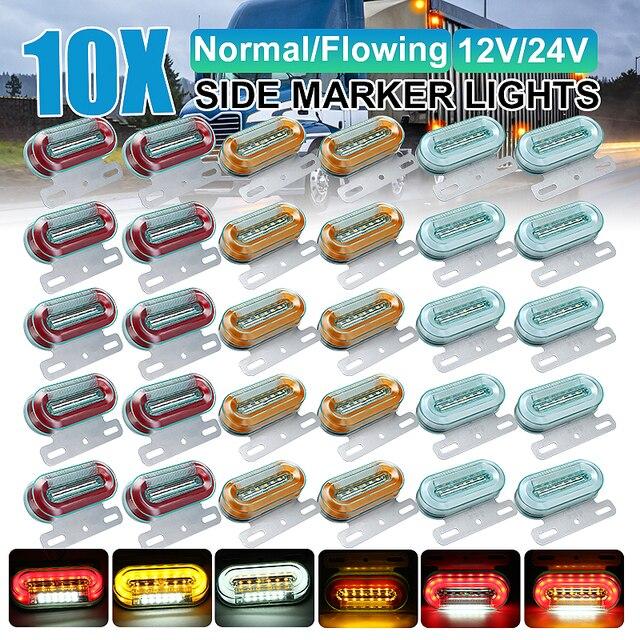10 sztuk 12V 24V LED samochodów ciężarówka boczne światła sygnalizacyjne lampy zewnętrzne wskaźnik sygnału lampa ostrzeżenie ogon światło przyczepa ciężarówka autobus łódź