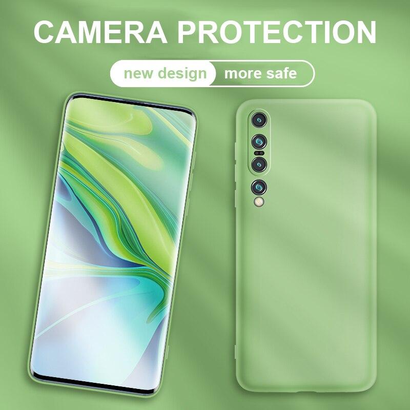 For Xiaomi Mi 10 Pro Case Camera Protection Soft Liquid Silicone Cover Shockproof Skin For Xiomi Xiaomi Mi 10 Mi10 5G Phone Case