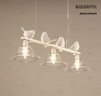 Nordic Modern Led Iron Bird Pendant Light Lamp Simplebar Glass Lampshade Dining Room Bedroom Hanging Lighting Shade Bed Ing