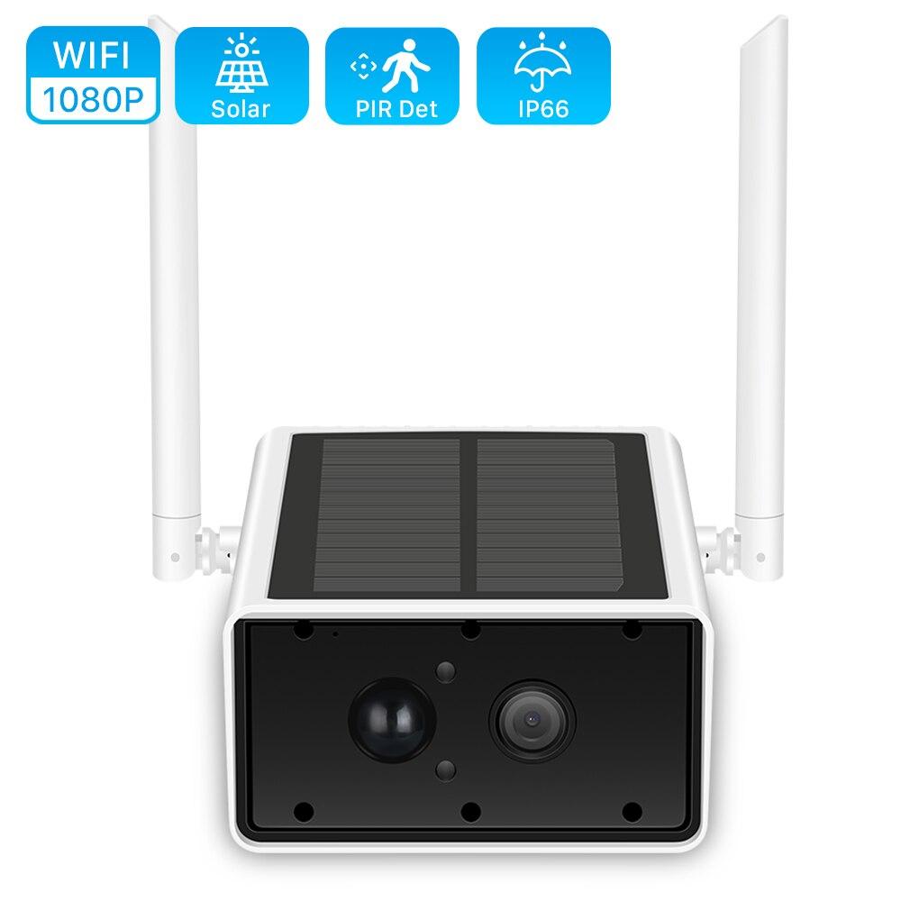 Solar WiFi IP Camera 1080P HD Outdoor Charging Battery Wireless Security Camera PIR Motion Detection CCTV Bullet Surveillance