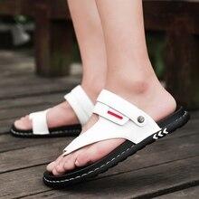 2019 מגמה חדשה טרקים גברים סנדלי מעצב גבר נעלי בית נוח Mens חוף סנדלי קיץ חיצוני גברים עור סנדלי