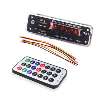 Wireless Bluetooth 5V 12V MP3 Decoder Board MP3 Audio Player Module Support USB SD AUX FM Audio Radio Module For Car accessories doitop built in bluetooth wall mount cd player prenatal audio english repetition learning machine support cd aux usb fm play hot
