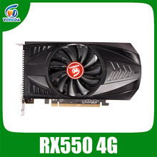 VEINEDA RX550 4GB Grafikkarten GDDR5 128bit GPU Für AMD Radeon rx 550 serie Video Karte Desktop PC Video gaming
