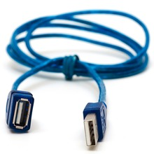 цена на 1/1.5/2/3M Anti-Interference USB 2.0 Extension Cable USB 2.0 Male To USB 2.0 Female Extension Data Sync Cord Cable Blue