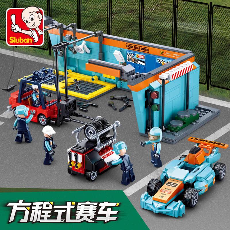 F1 互換 legoed レースカースピードレーサー修理ビルディングブロックセットレンガレース会場オートバイゲーム