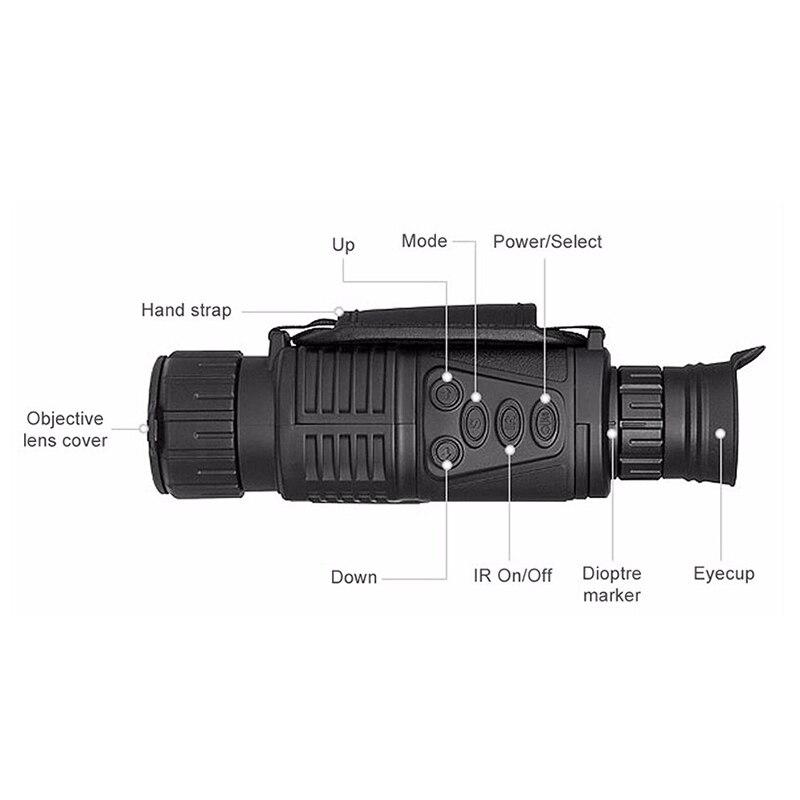 caça telescópio de longo alcance com câmera