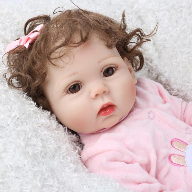 18Inch Bebe Reborn Baby Girl Dolls Full Body Silicone Vinyl Realistic Bebes Boneca Reborn for Girls Kids Birthday Christmas Gift 5