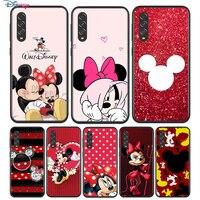 Negro rojo suave Mickey Minnie para Samsung Galaxy A90 A80 A70 A70S A60 A50 A40 A30 A30S A20S A20E A10 A10E teléfono caso