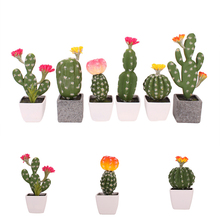 Groene Kunstmatige Planten Mini Bonsai Ingemaakte Simulatie Vetplanten Geen Pot Voor Kantoor Tafel Decor Nep Plant Huis Tuin Decoratie