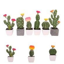Verde Artificial Plantas de Mini Bonsai Vasos de Suculentas Simulação no Pote Para Decoração de Mesa de Escritório Planta Falso Casa Decoração Do Jardim
