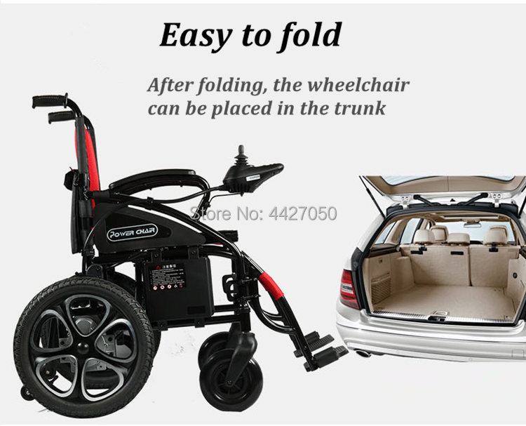 Free shipping hot sale limited time discount folding electric wheelchair cost-effective scooter 2