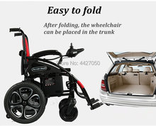 2019 free shipping lead acid battery collapsible elderly disabled electric wheelchair