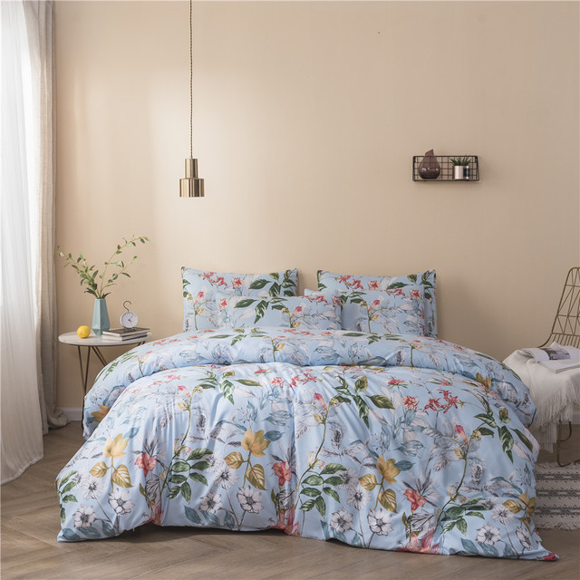 Cross-border foreign trade Amazon brushed three-piece US explosion models printing suite bedding home textiles