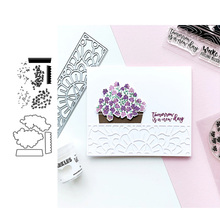 JC Metal Cutting Dies and Stamps Flower Leaf Pattern Frame Scrapbooking Craft Stencil Card Make Album Sheet Mold Mould Die Cut
