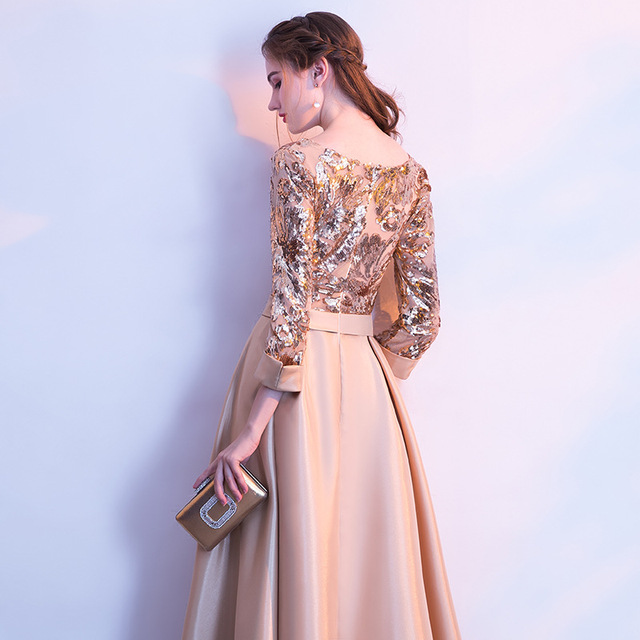 DongCMY Long Formal Sequined Prom Dresses Party New Plus Size Robe De Soiree Embroidered Gowns 2