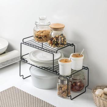 OTHERHOUSE Kitchen Storage Rack Closet Shelf Dish Drying Rack Spice Jars Seasoning Bottles Holder Shelves Kitchen Organizer