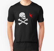Fashion Cool Men T shirt Women Funny tshirt The Flag of Captain Jack Sparrow Customized Printed T-Shirt(China)