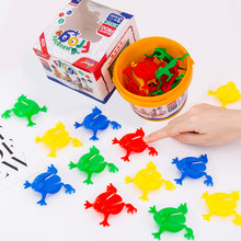 Frog jumping animal small toy puzzle table game birthday gift(China)
