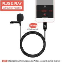 Microphone for Lavalier-Condenser Audio Video-Recording iPad Mini 11 12 YC-LM30 3M 6/7-Plus
