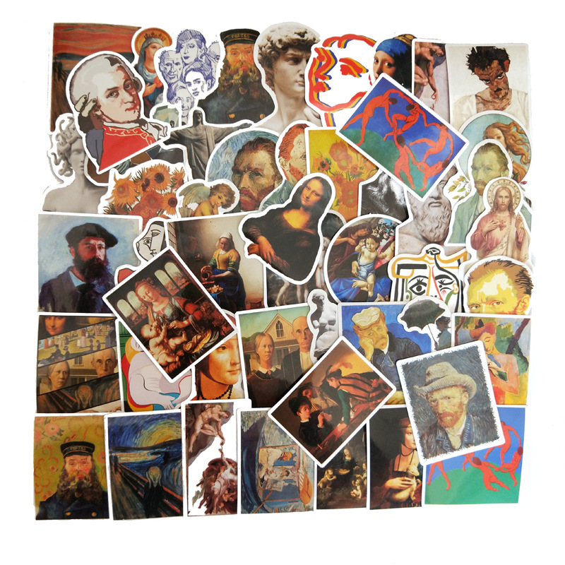 50Pcs 2020  Artist Works Stickers For Suitcase Skateboard Laptop Luggage Fridge Phone Car Styling DIY Decal Sticker