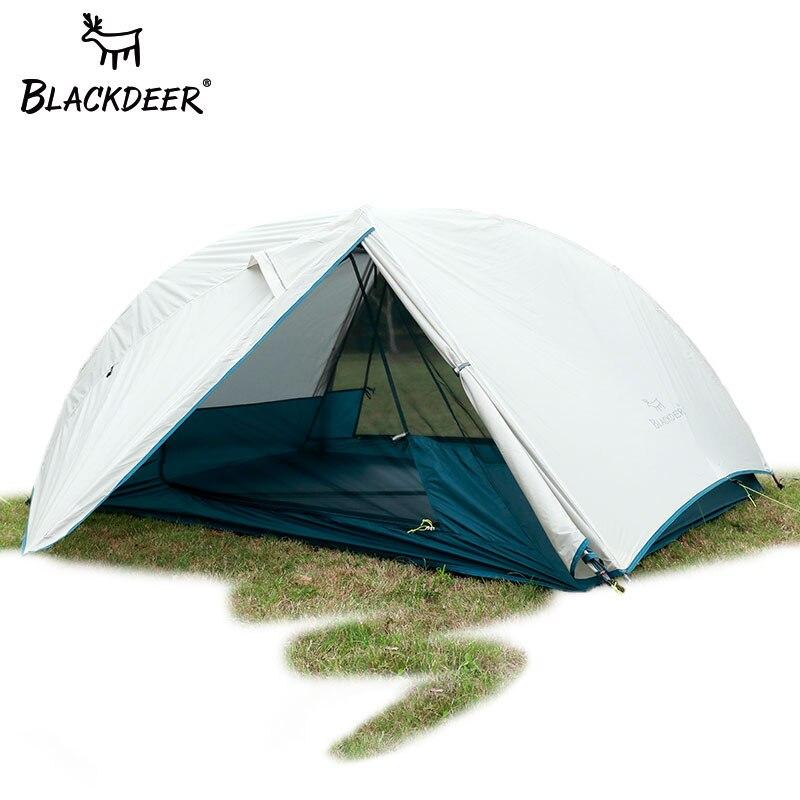 2 personnes a amélioré la tente ultra-légère 20D Nylon Silicone enduit tissu imperméable à l'eau touristique sac à dos tentes Camping en plein air 1.47 kg