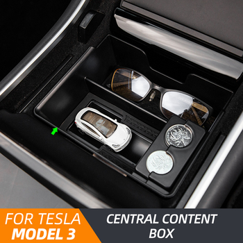 Model3 Car Central storage Box for Tesla Model 3 Accessories 2020 Interior Stowing Tidying Center Console Organizer Model three