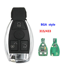 smart key 3 button NEC and BGA and BE remote key with 315mhz 434MHZ for Mercedes Benz Car Remote Controller Year 2000