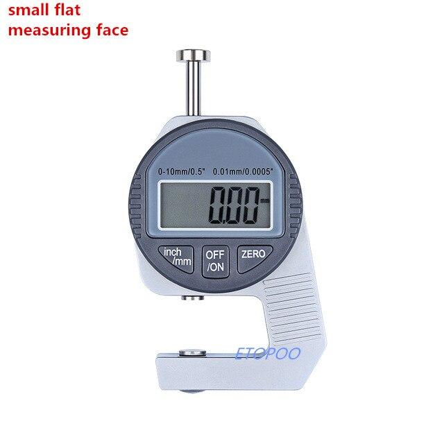Прямая! Простота в эксплуатации 0-12,7 мм Мини цифровой Толщина датчик измерительный прибор тестер микрометрический измеритель с большим измеряя уход за кожей лица - Цвет: small flat