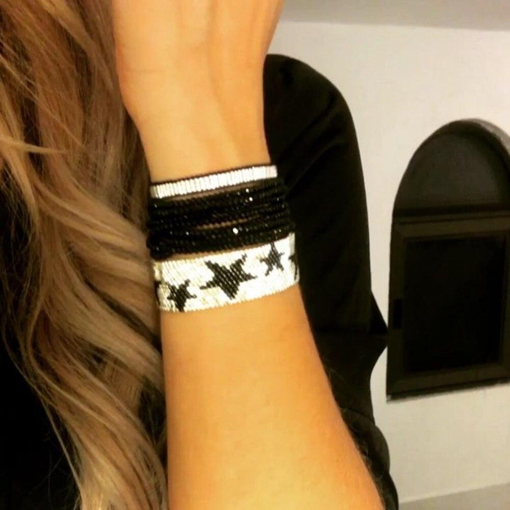 Купить rttooas серебряная звезда miyuki браслет женские модные ювелирные