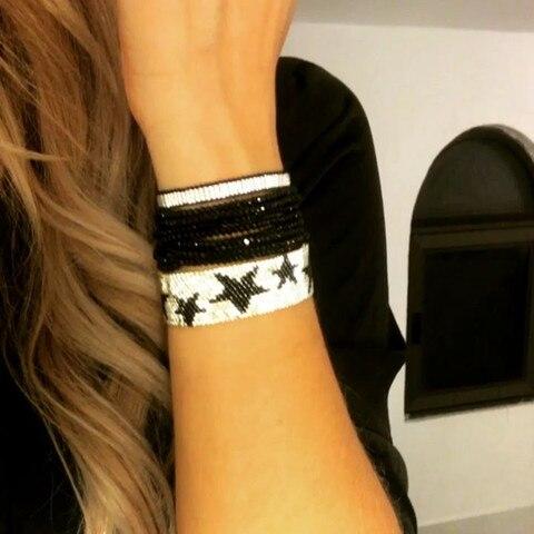 Rttooas серебряная звезда miyuki браслет женские модные ювелирные