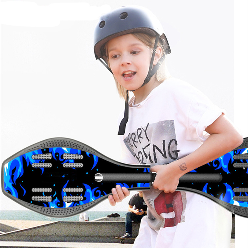 88cm Children's Two-wheeled Skateboard Beginners Adult Flash Vitality Board Youth Swing Two-wheeled Scooter