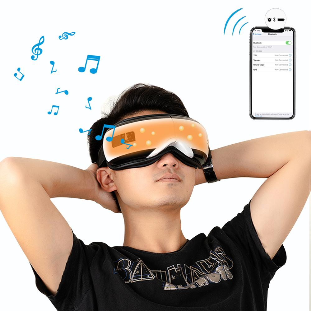 Eye Relax Mask Electric Eye Massager Mask Migraine Vision Improvement Forehead Eye Care Massage Health Care Tool Bluetooth Music
