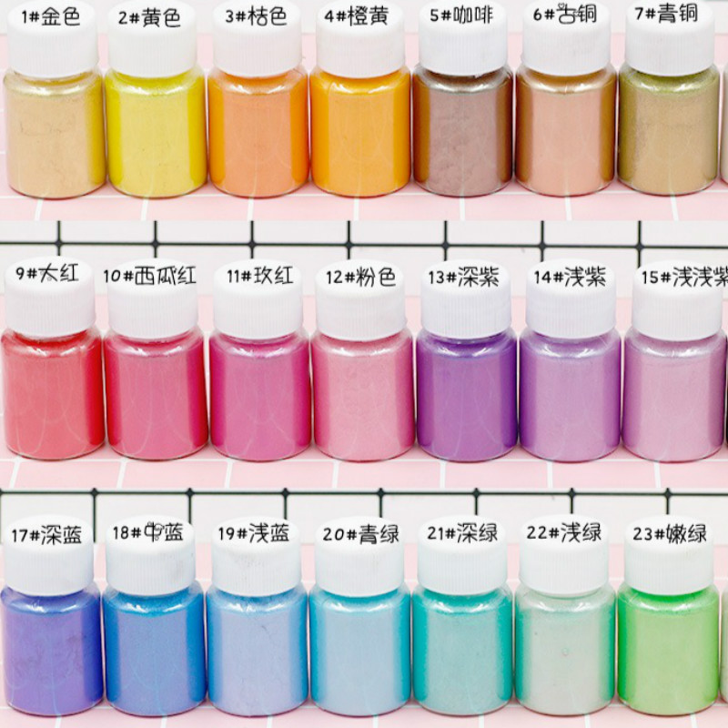 10g Bottled Pearl Powder Slime Filler Glue Foam Soft Clay Supplies Accessories Interactive Toy Crystal Slime Charms For Children