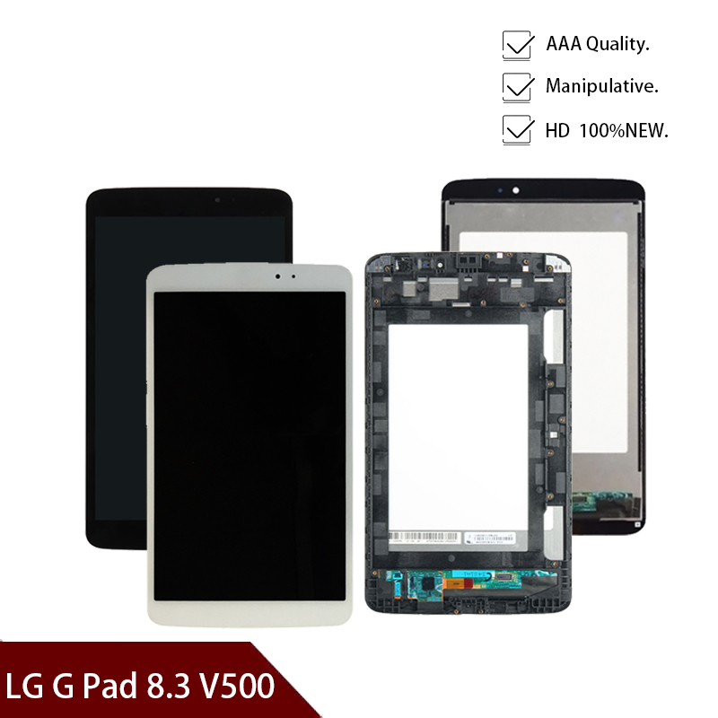 New 8.3'' inch For LG G Pad 8.3 V500  With Frame and  No Frame LCD DIsplay Digitizer Glass Assembly Free shipping
